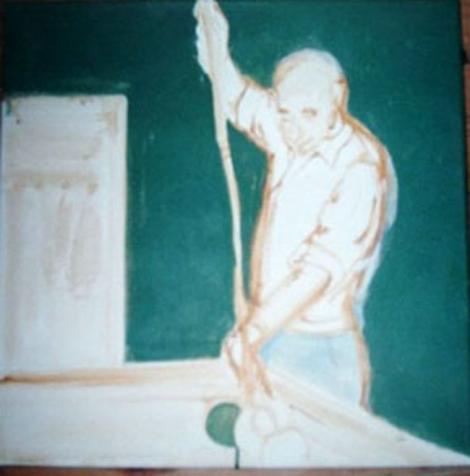 Mijn vader aan het biljart…