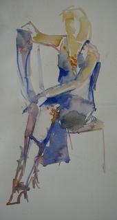 Serie snelle aquarelschetsen naar modellen