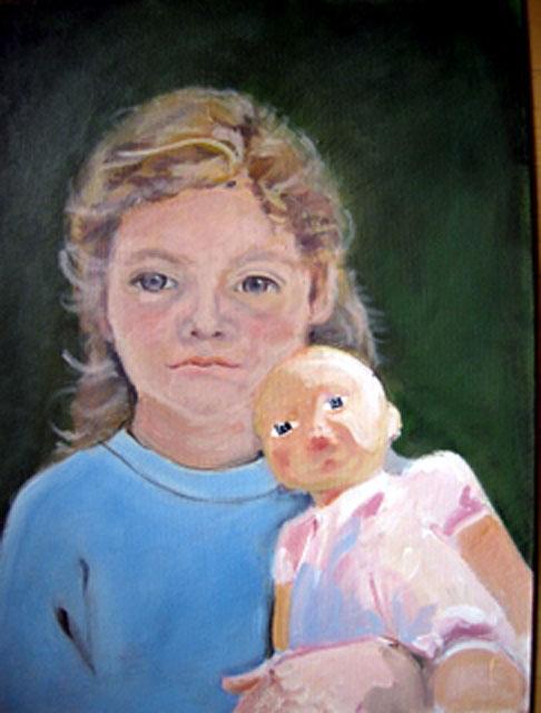 Eindelijk helemaal af: het meisje met de pop.