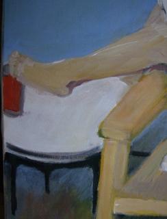 Tweede detail van schilderij waar ik aan werk.