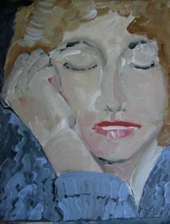 Titel, header en avatar gewijzigd en een geschilderd ( wat anders) zelfportret