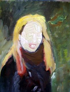De verf nog nat, fase drie , vier, vijf en zes van vrouwenportret
