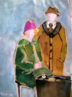 Eerste gekleurde werk in de serie : Portretten van toen