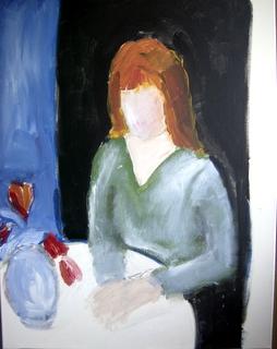 Opzet van een nieuw schilderij : De Brief.