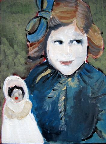 Portretje afgeschilderd vandaag .