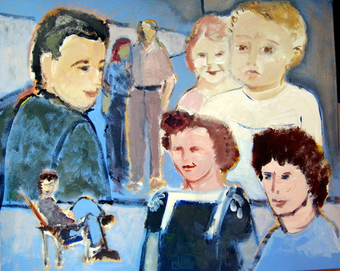 Werkend aan een familieportret