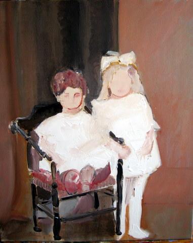 Vooroorlogs portret van twee kinderen uit mijn familie