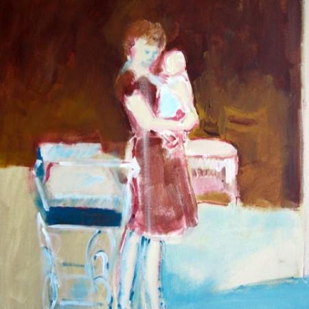 Zelfportret met eerstgeborene 1965