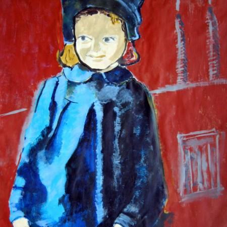Childsurvivor Acryl op papier ca.150×150