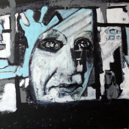 Derde zelfportret, tweede fase
