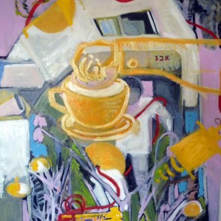 Olie op doek (100×90)
