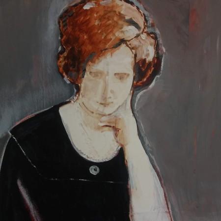 Annie (gemengde techniek op papier 70×100